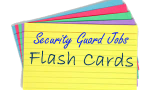Security Guard Job Training Preparation Flashcards