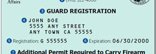 How do I get a California Security Guard Card?